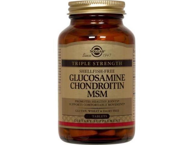 Triple Strength Glucosamine Chondroitin MSM (Shellfish-Free) - Solgar - 120 - Tablet