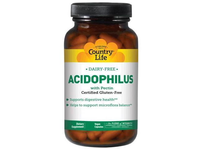 Dairy Free Acidophilus With Pectin - Country Life - 250 - VegCap