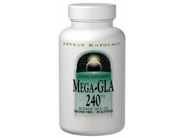 Mega GLA-240 Borage Seed Oil - Source Naturals, Inc. - 30 - Softgel