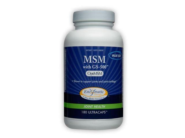 MSM with GS-500 - Enzymatic Therapy Inc. - 180 - Capsule
