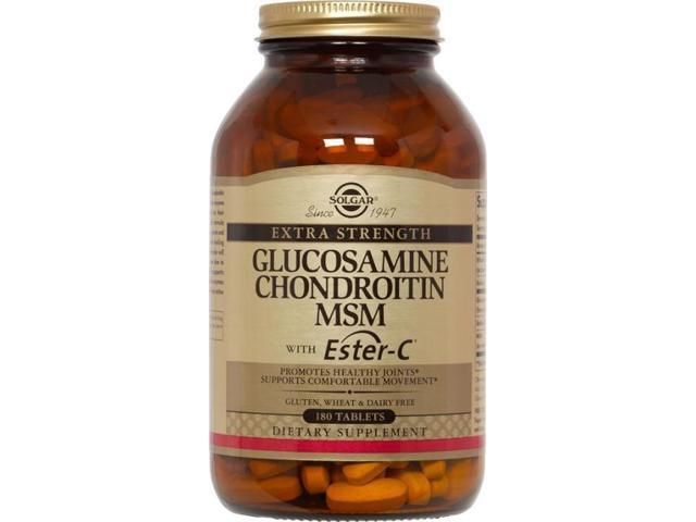 Extra Strength Glucosamine Chondroitin MSM with Ester C - Solgar - 180 - Tablet