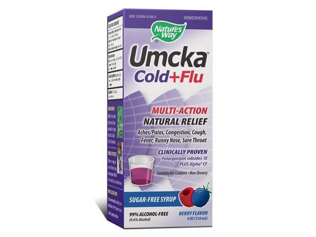 Umcka Cold & Flu Berry Syrup - Nature's Way - 4 oz - Liquid