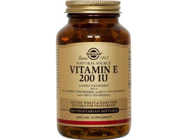 Natural Vitamin E 200 IU - Mixed, Vegetarian - Solgar - 100 - Softgel