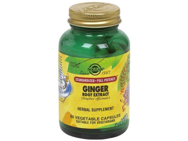 SPF Ginger Root Extract - Solgar - 60 - VegCap