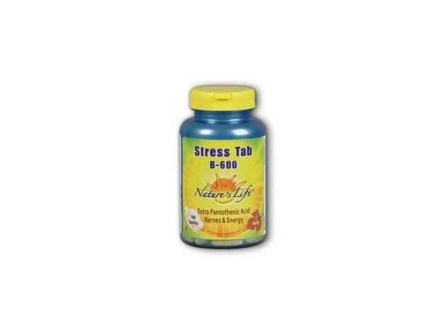 Stress Tab B-600 - Vegetarian - Nature's Life - 100 - Tablet