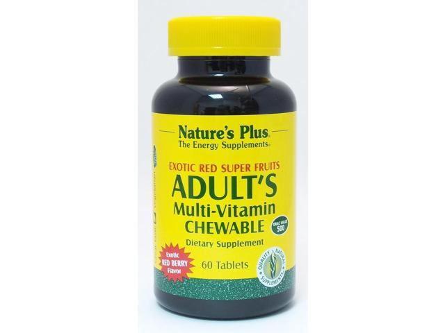 Adult's Multi-Vitamin  Exotic Red Fruits - Nature's Plus - 60 - Chewable Tablet