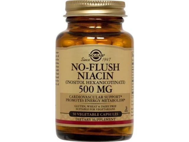 No-Flush Niacin 500mg - Solgar - 50 - VegCap