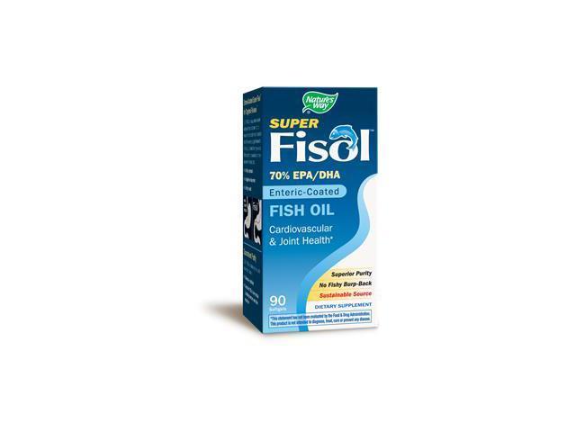 Super Fisol Fish Oil - Nature's Way - 90 - Softgel