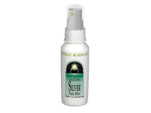 Ultra Colloidal Silver Nasal Spray (Pump) - Source Naturals, Inc. - 2 oz - Spray