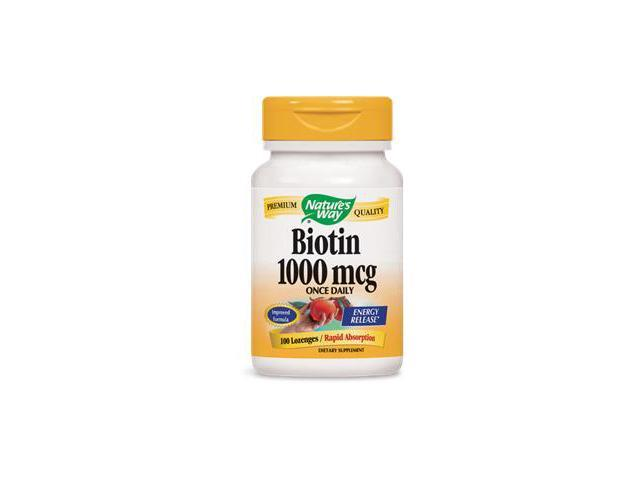 Biotin 1000mcg Sublingual - Nature's Way - 100 - Lozenge