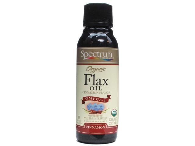 Veg-Omega 3 Organic Flax Oil-Cinnamon - Spectrum Essentials - 8 oz - Liquid
