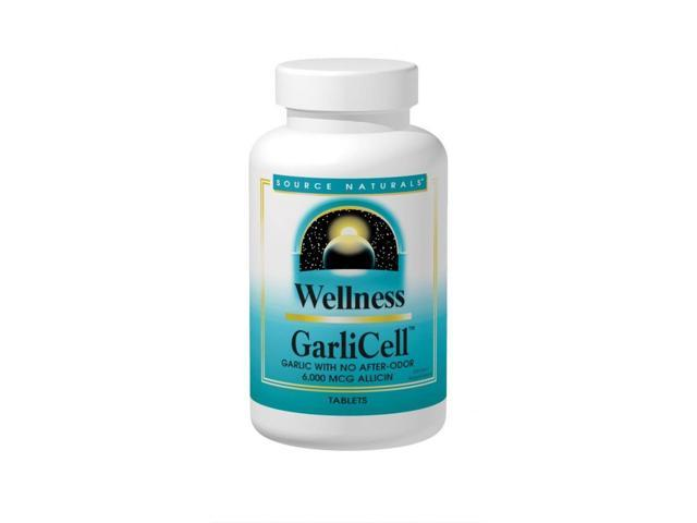 Wellness Garlicell - Source Naturals, Inc. - 45 - Tablet