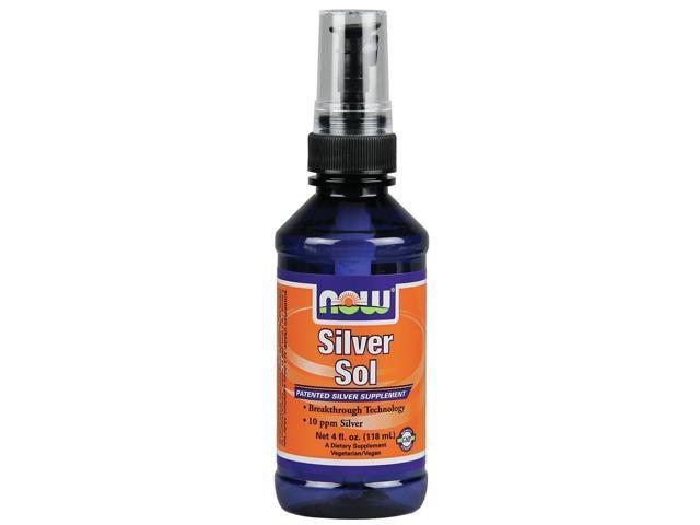Silver Sol Liquid Spray - Now Foods - 4 oz - Spray