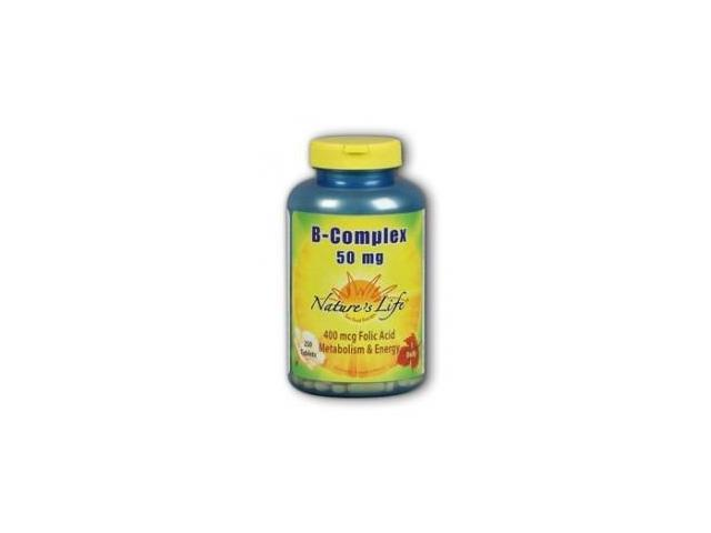 Vitamin B-Complex 50mg - Vegetarian, Yeast-Free - Nature's Life - 250 - Tablet