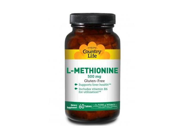 L-Methionine 500mg With B6 - Country Life - 60 - Tablet