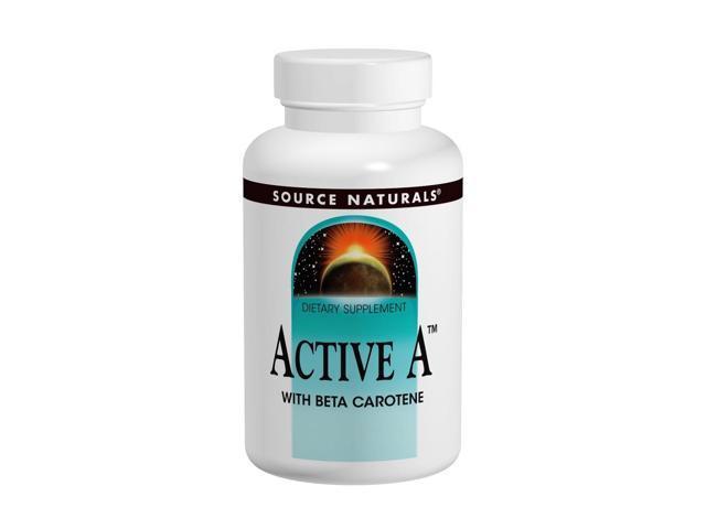 Active A w/ Beta Carotene 25,000 IU - Source Naturals, Inc. - 60 - Tablet