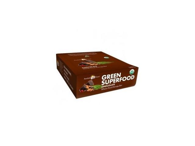 Organic Green SuperFood Energy Bars - Chocolate-Box - Amazing Grass - 12 Bars - Box