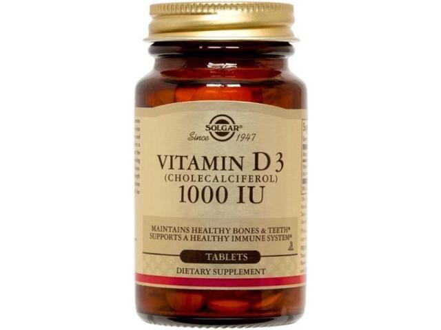 Vitamin D3 1000 IU - Solgar - 180 - Tablet