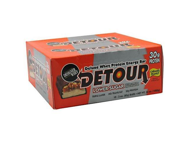 Detour Bar Lower Sugar Caramel Peanut - Box - Forward Foods - 12 Bars - Box