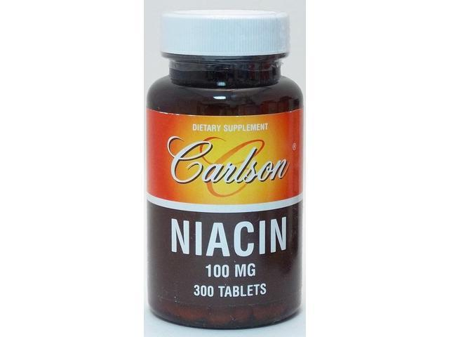 Niacin 100mg - Carlson Laboratories - 300 - Tablet