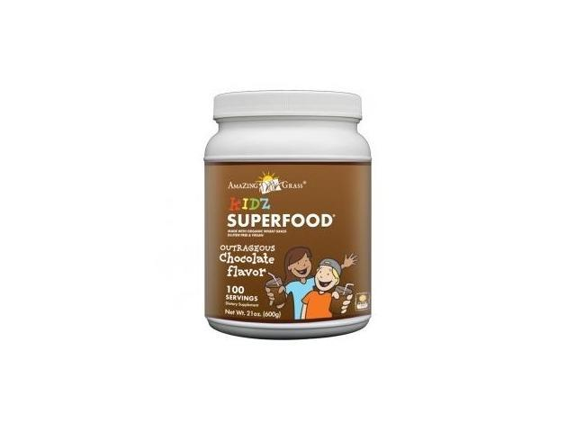 Kidz SuperFood Powder Chocolate-100 Servings - Amazing Grass - 21 oz - Powder