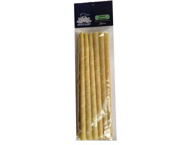 Herbal Beeswax Candles - White Egret INC - 12 pack - Candle