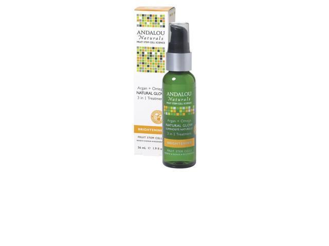 Argan + Omega Natural Glow 3 in 1 Treatment - Andalou Naturals - 1.9 oz - Liquid