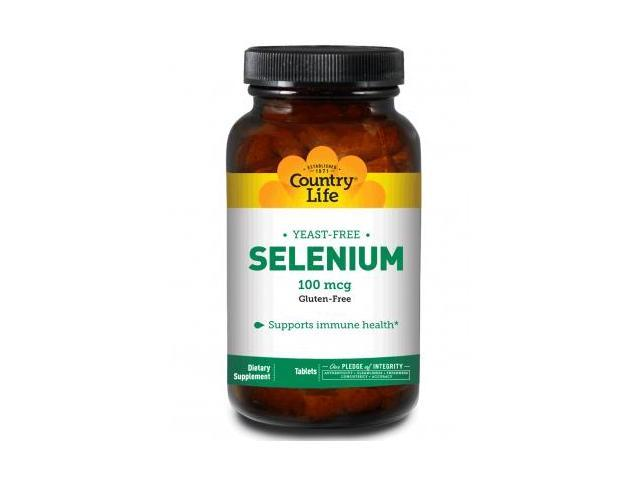 Selenium 100mcg Yeast Free - Country Life - 180 - Tablet