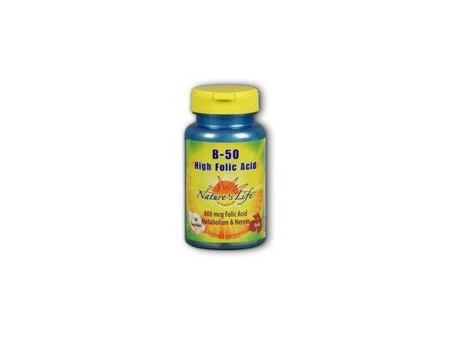 High Folic Acid B-50 - Nature's Life - 50 - Capsule
