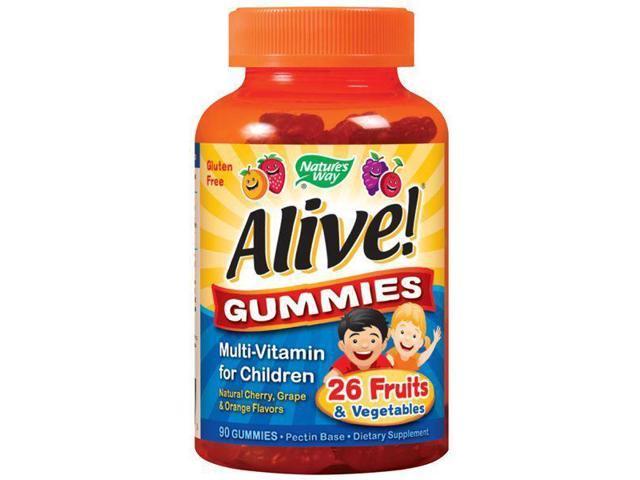 Alive Children's Multi-Vitamin Gummy - Nature's Way - 90 - Gummy