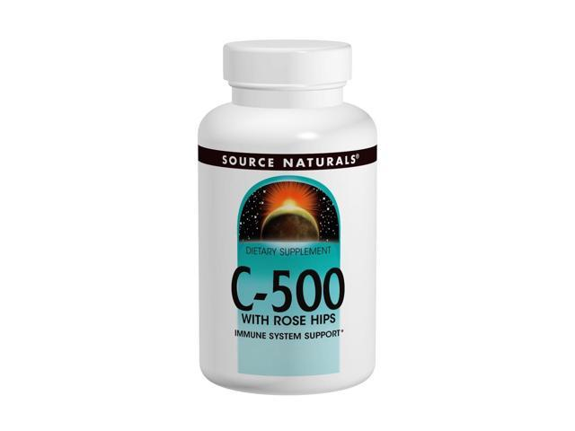 Vitamin C-500 With Rosehips 500mg - Source Naturals, Inc. - 50 - Tablet