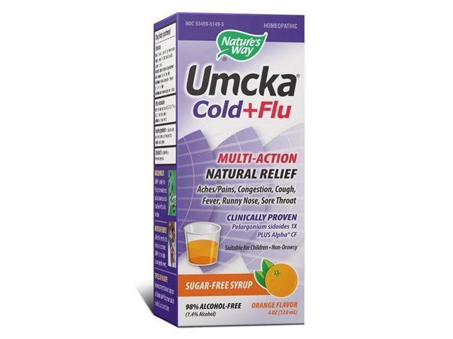 Umcka Cold & Flu Orange Syrup - Nature's Way - 4 oz - Liquid