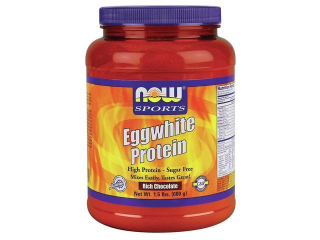 Egg White Protein - Rich Chocolate - Now Foods - 1.5 lbs - Powder