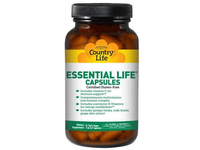Essential Life Multiple Capsule - Country Life - 120 - VegCap