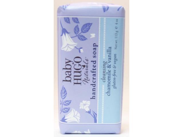 BabyHugo Baby Handcrafted Soap-Shea Butter & Chamomile - Hugo Naturals - 4 oz - Bar Soap