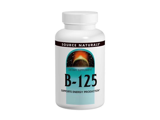 Vitamin B Complex 125mg Yeast Free - Source Naturals, Inc. - 90 - Tablet