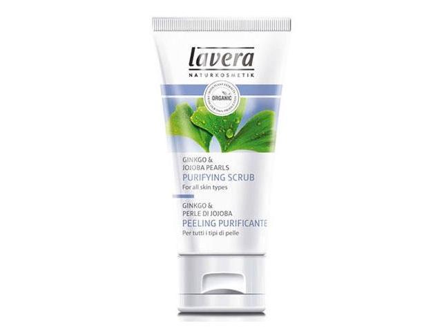 Purifying Scrub - Ginkgo & Jojoba Pearls - Lavera Skin Care - 1.6 oz - LIquid