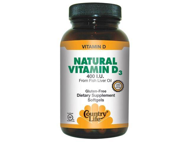 Vitamin d 400 iu fish oil country life 100 softgel for Fish oil vitamin d