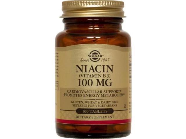 Niacin 100mg - Solgar - 100 - Tablet