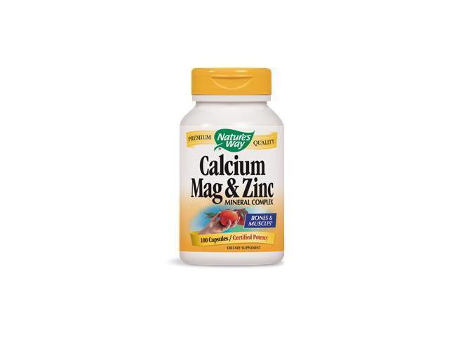 Calcium, Magnesium & Zinc - Nature's Way - 100 - Capsule