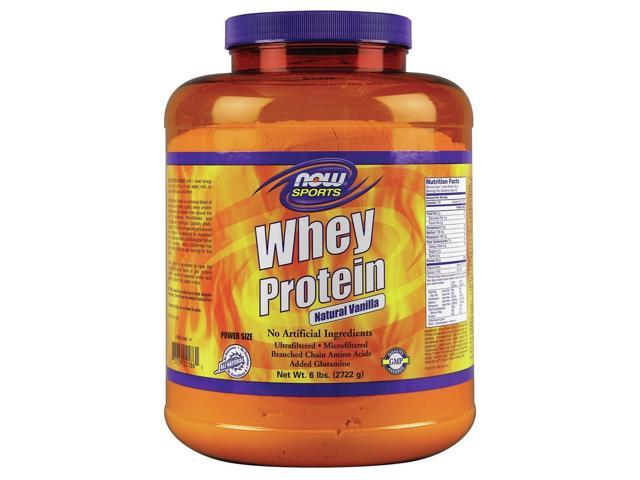 Whey Protein-Vanilla - Now Foods - 6 lbs - Powder