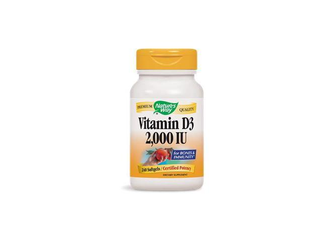 Vitamin D3 2000 IU - Nature's Way - 240 - Softgel