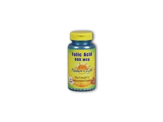 Folic Acid 800mcg - Vegetarian - Nature's Life - 250 - Tablet
