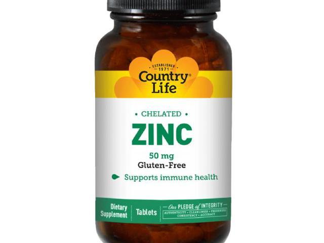Chelated Zinc 50mg - Country Life - 100 - Tablet