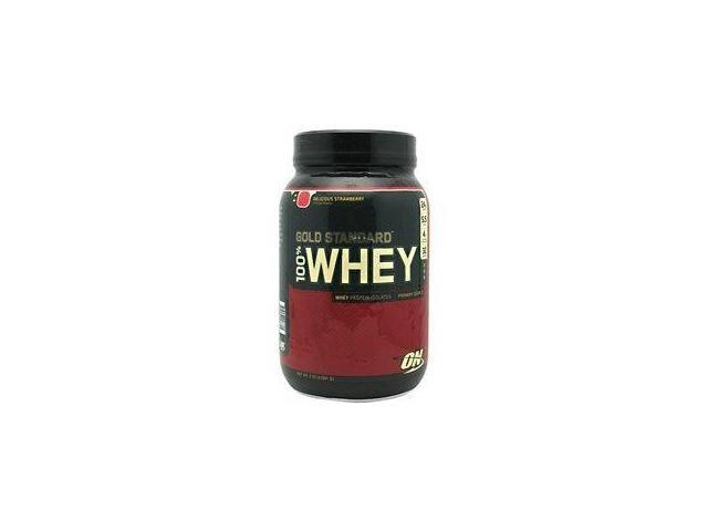Optimum Nutrition 100% Whey Protein, Strawberry, 2 lbs. Gold Standard Protein