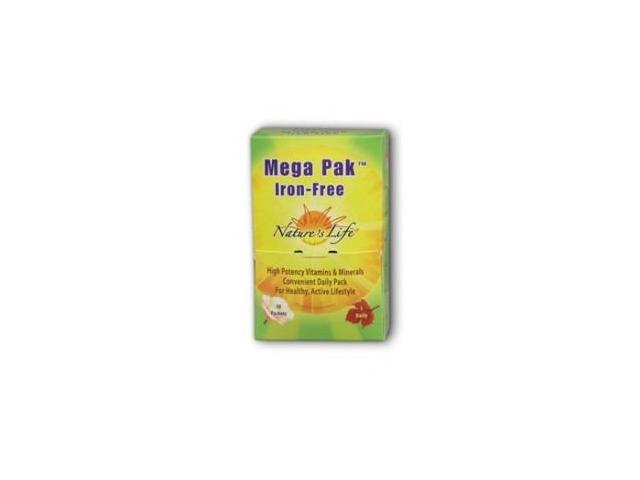 Iron-Free Mega Pak Multiple - Box - Nature's Life - 30 - Packet
