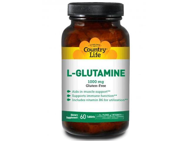 L-Glutamine 1000mg With B6 - Country Life - 60 - Tablet