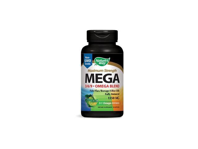 MEGA 3/6/9 Omega Blend 1350 mg - Nature's Way - 90 - Softgel
