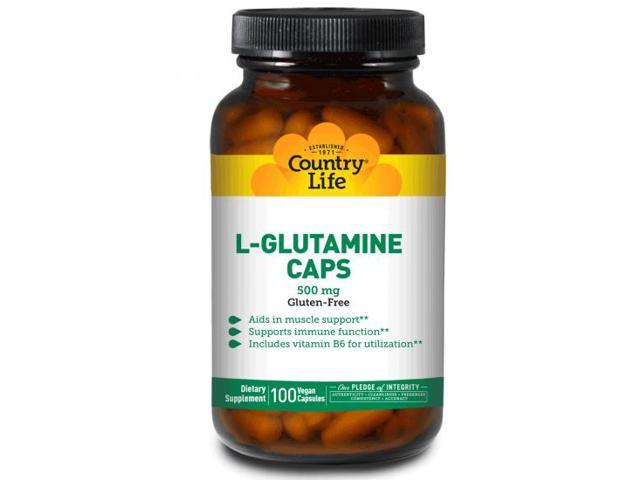 L-Glutamine 500mg With B6 - Country Life - 100 - VegCap
