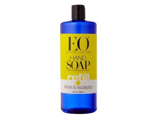 Liquid Hand Soap Lemon Eucalyptus - EO - 32 oz - Liquid